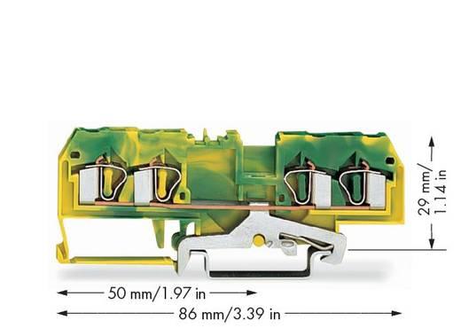 Schutzleiterklemme 6 mm Zugfeder Belegung: PE Grün-Gelb WAGO 281-657 50 St.