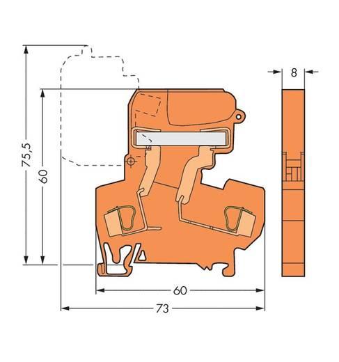 WAGO 281-672 Trennklemme 8 mm Zugfeder Orange 50 St.