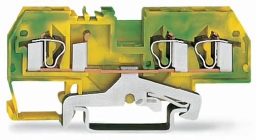 Schutzleiterklemme 6 mm Zugfeder Belegung: PE Grün-Gelb WAGO 281-687/999-950 50 St.