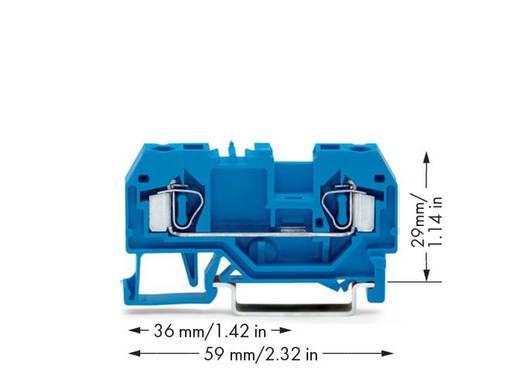 Durchgangsklemme 6 mm Zugfeder Belegung: N Blau WAGO 281-904 50 St.