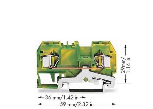 Schutzleiterklemme 6 mm Zugfeder Belegung: PE Grün-Gelb WAGO 281-907/999-950 50 St.