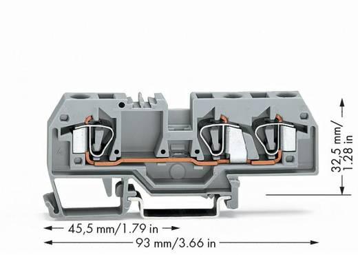 Durchgangsklemme 8 mm Zugfeder Belegung: L Grau WAGO 282-681 25 St.