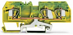 Borne pour conducteur de protection WAGO 282-687 8 mm ressort de traction Affectation des prises: terre vert-jaune 25 pc