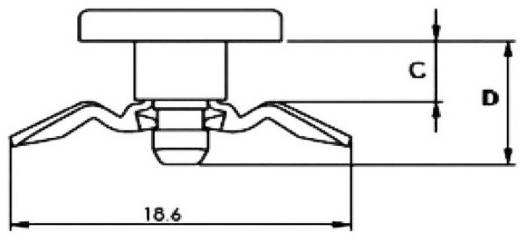 Spreizniete Loch-Ø 5.5 mm Natur PB Fastener RFL-2 1 St.