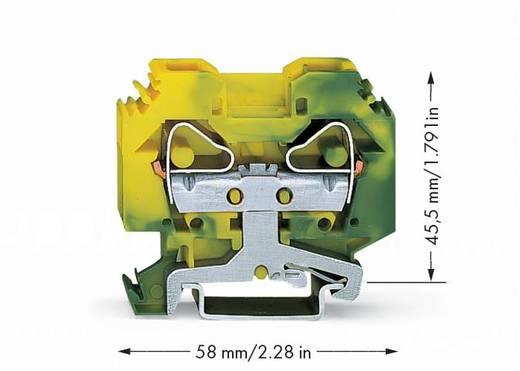 Schutzleiterklemme 12 mm Zugfeder Belegung: PE Grün-Gelb WAGO 283-107 50 St.