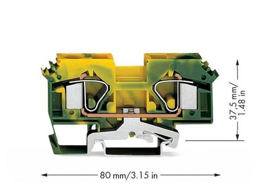 Schutzleiterklemme 12 mm Zugfeder Belegung: PE Grün-Gelb WAGO 283-607/999-950 25 St.