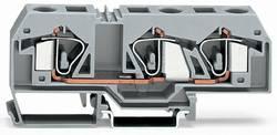 Bloc de jonction traversant WAGO 283-998 12 mm ressort de traction Affectation des prises: L gris 20 pc(s)