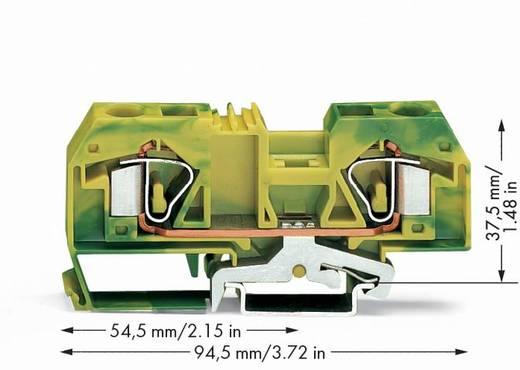 Schutzleiterklemme 12 mm Zugfeder Belegung: PE Grün-Gelb WAGO 283-907/999-950 20 St.