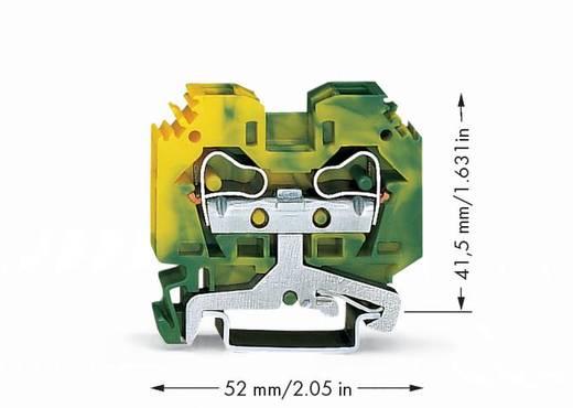 Schutzleiterklemme 10 mm Zugfeder Belegung: PE Grün-Gelb WAGO 284-107 50 St.