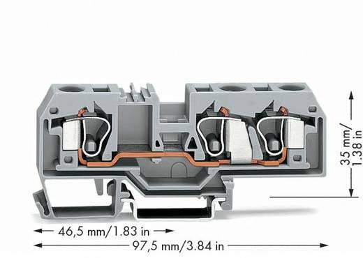 Durchgangsklemme 10 mm Zugfeder Belegung: L Grau WAGO 284-681 25 St.