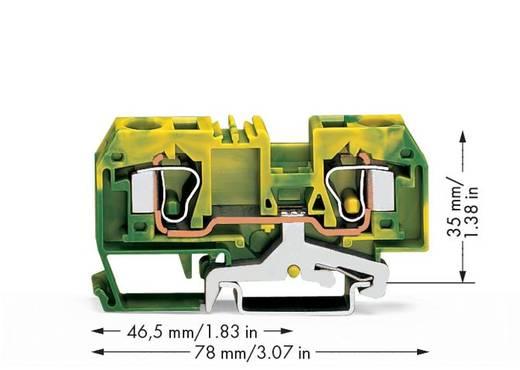 Schutzleiterklemme 10 mm Zugfeder Belegung: PE Grün-Gelb WAGO 284-907 25 St.