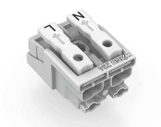Netzanschlussklemme starr: 0.5-1.5 mm² Polzahl: 2 WAGO 1000 St. Weiß