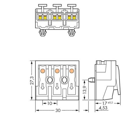 Netzanschlussklemme starr: 0.5-1.5 mm² Polzahl: 3 WAGO 294-4013 500 St. Weiß