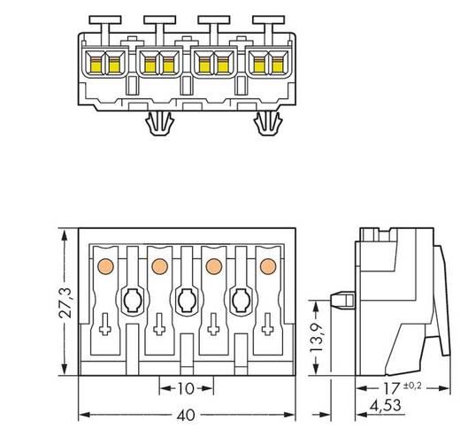 Netzanschlussklemme starr: 0.5-1.5 mm² Polzahl: 4 WAGO 294-5014 500 St. Weiß
