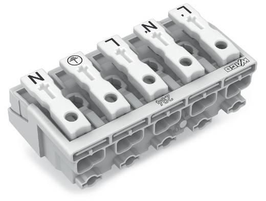 Netzanschlussklemme starr: 0.5-1.5 mm² Polzahl: 5 WAGO 250 St. Weiß