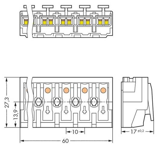 Netzanschlussklemme starr: 0.5-1.5 mm² Polzahl: 6 WAGO 294-4006 250 St. Weiß