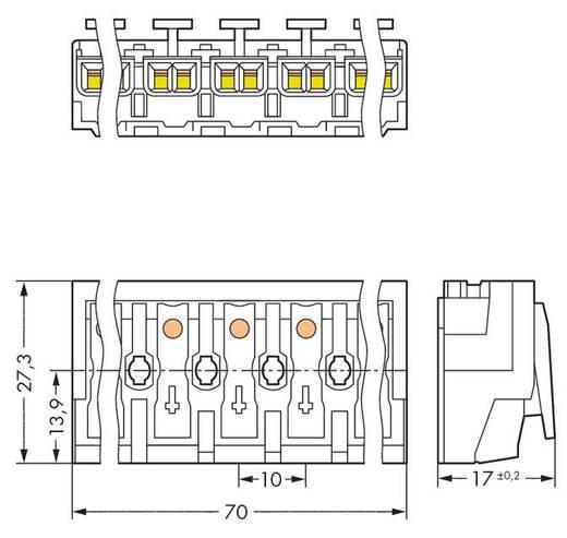 Netzanschlussklemme starr: 0.5-1.5 mm² Polzahl: 7 WAGO 294-4007 200 St. Weiß