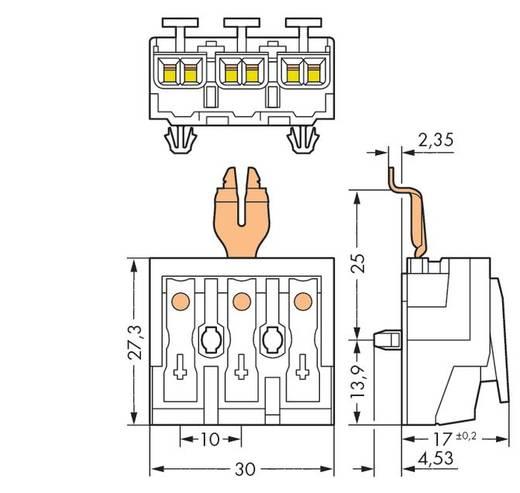 Netzanschlussklemme starr: 0.5-1.5 mm² Polzahl: 3 WAGO 294-5353 500 St. Weiß