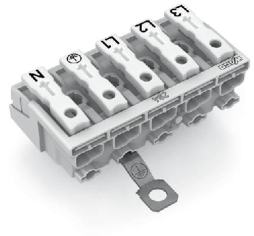 Netzanschlussklemme starr: 0.5-1.5 mm² Polzahl: 5 WAGO 294-4475 250 St. Weiß