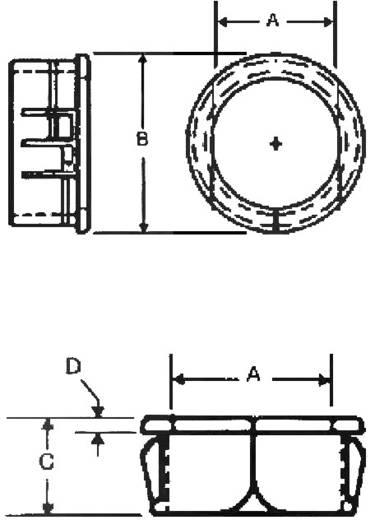 Isolierdurchführung seitlich offen Klemm-Ø (max.) 9.9 mm Polyamid Schwarz PB Fastener H-2873 1 St.