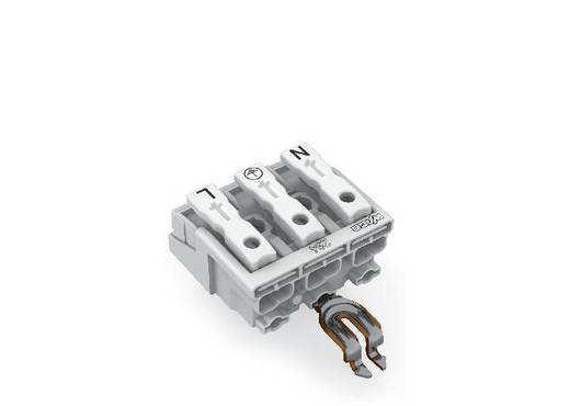 Netzanschlussklemme starr: 0.5-1.5 mm² Polzahl: 3 WAGO 500 St. Weiß