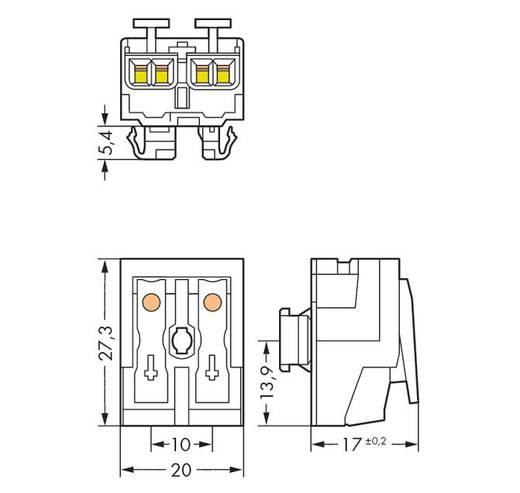 Netzanschlussklemme starr: 0.5-2.5 mm² Polzahl: 2 WAGO 1000 St. Weiß
