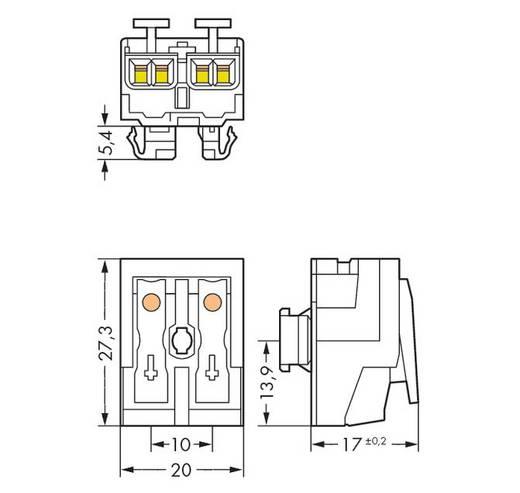 Netzanschlussklemme starr: 0.5-2.5 mm² Polzahl: 2 WAGO 294-8022 1000 St. Weiß