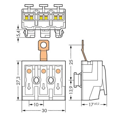Netzanschlussklemme starr: 0.5-2.5 mm² Polzahl: 3 WAGO 294-8413 500 St. Weiß