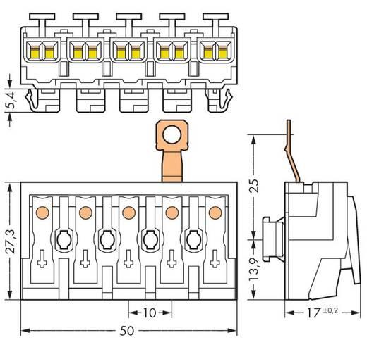 Netzanschlussklemme starr: 0.5-2.5 mm² Polzahl: 5 WAGO 294-8425 250 St. Weiß