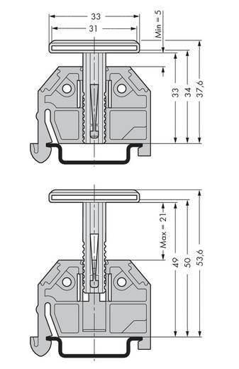 Trägerdurchgangselement 709-118 WAGO Inhalt: 50 St.