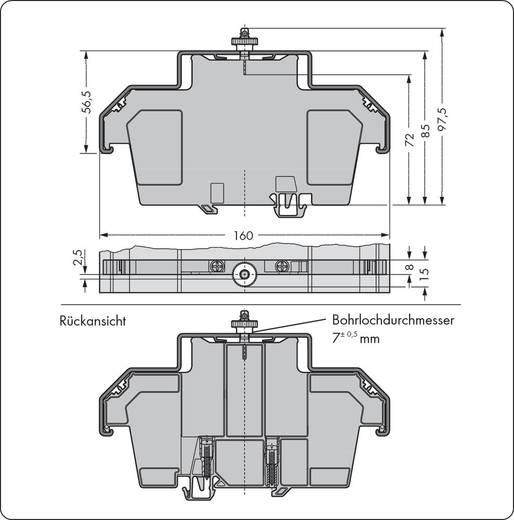 Abdeckprofilträger 709-168 WAGO Inhalt: 10 St.