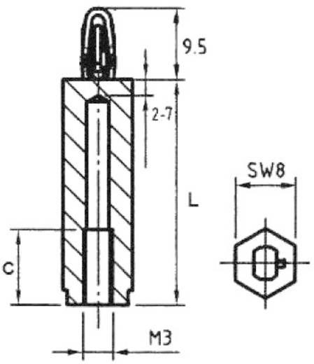 Abstandshalter M3 Polyamid Abstandsmaß 5 mm PB Fastener 449.06.05 1 St.
