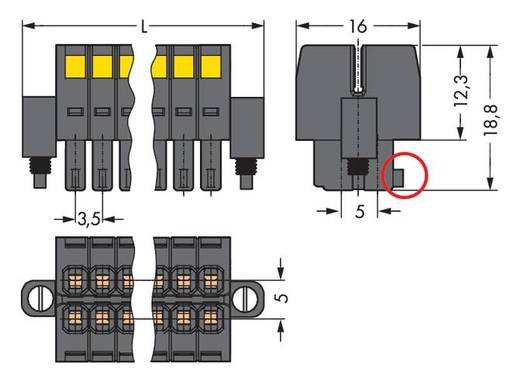 WAGO Buchsengehäuse-Kabel 713 Polzahl Gesamt 18 Rastermaß: 3.50 mm 713-1109/107-047 25 St.