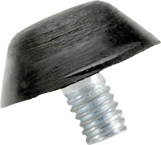 Anschlagpuffer konisch Schwarz (Ø x H) 14 mm x 6 mm PB Fastener 110077 1 St.