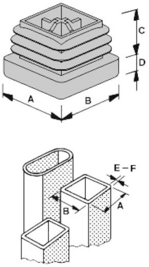 Lamellenstopfen Polyethylen Schwarz PB Fastener 056 0500 699 03 1 St.