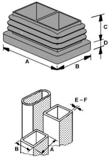 Lamellenstopfen Polyethylen Grau PB Fastener 057 4025 620 03 1 St.