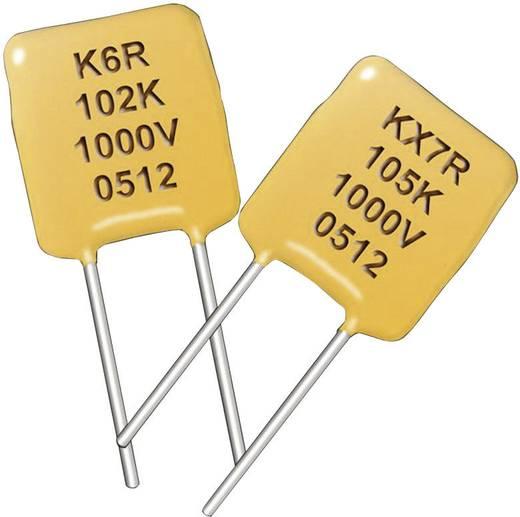Keramik-Kondensator radial bedrahtet 0.1 µF 50 V/DC 10 % Kemet C317C104K5R5TA7301+ 1 St.