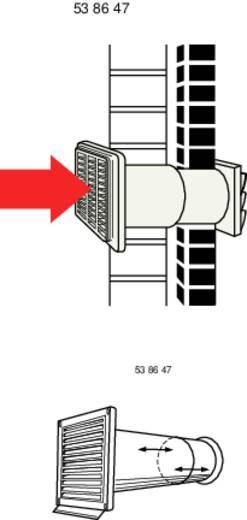 Rundrohr-Lüftungssystem 100 Kunststoff (Ø x L) 10 cm x 48 cm Wallair N37824 Weiß