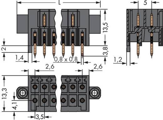 WAGO Stiftleiste (Standard) 1735 Polzahl Gesamt 16 Rastermaß: 3.50 mm 713-1468/107-000 25 St.