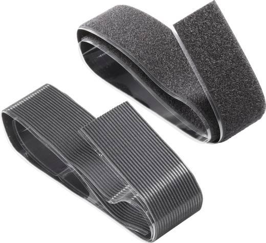 Klettband zum Aufkleben Haft- und Flauschteil, extrastark (L x B) 1000 mm x 50 mm Schwarz Fastech 730-330-1C 1 Paar