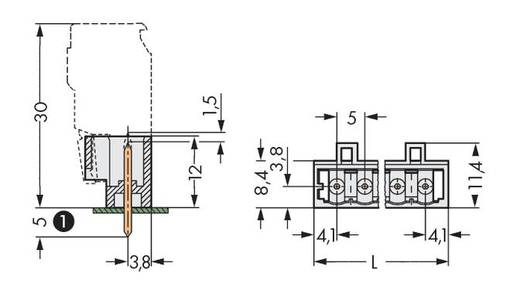 Stiftleiste (Standard) 2060 Polzahl Gesamt 4 WAGO 721-134/001-000 Rastermaß: 5 mm 200 St.