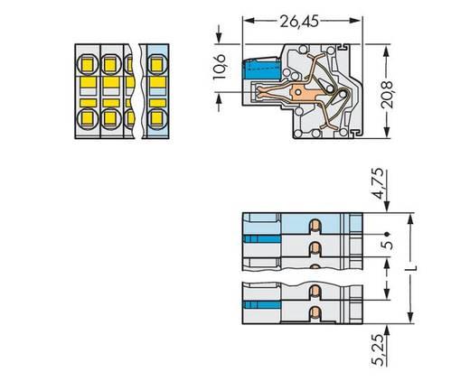 WAGO Buchsengehäuse-Kabel 721 Polzahl Gesamt 15 Rastermaß: 5 mm 721-2115/026-000 25 St.