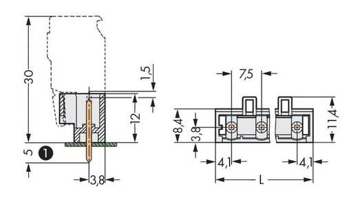 Stiftleiste (Standard) 2060 Polzahl Gesamt 5 WAGO 721-235/001-040 Rastermaß: 7.50 mm 100 St.