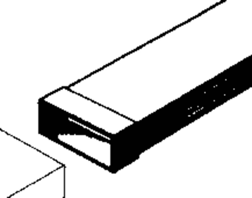 flat channel ventilation system 100 mm duct connector wallair