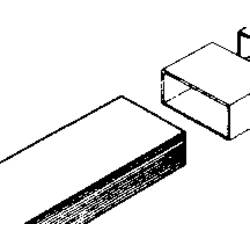 Image of Wallair 20200110 Flachkanal-Lüftungssystem 100 Vierkantrohr