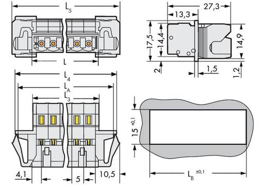 Stiftleiste (Standard) 2060 Polzahl Gesamt 12 WAGO 721-612/114-000 Rastermaß: 5 mm 25 St.