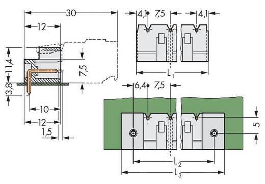 WAGO Stiftleiste (Standard) 2060 Polzahl Gesamt 6 Rastermaß: 7.50 mm 721-866/001-000 100 St.