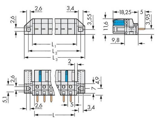 WAGO Buchsengehäuse-Platine 722 Polzahl Gesamt 4 Rastermaß: 5 mm 722-134/047-000 50 St.