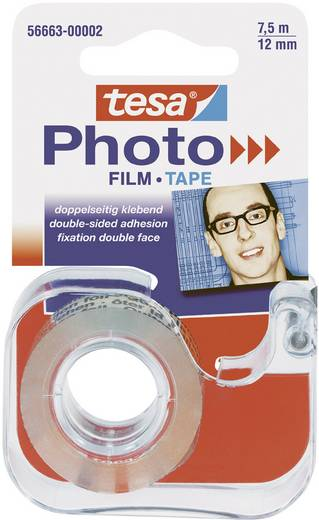 tesa Foto® Film im Abroller (L x B) 7.5 m x 12 mm Transparent 56663-00002-00 tesa Inhalt: 1 Rolle(n)