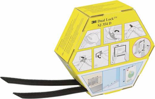 Klettband zum Aufkleben Haft- und Flauschteil (L x B) 5000 mm x 25.4 mm Schwarz 3M SJ 354D Dual Lock 1 Paar